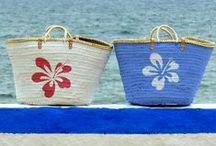 Capazos de palma pintados a mano / En Art aliquam también personalizamos capazos, fabricados a mano en Alicante se pintan también a mano; a pincel, sin sprays ni plantillas.