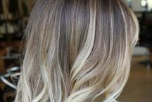 """Balayage Color / In French, Balayage means """"Brushed On"""". This color is a natural sun kissed look to lighten the hair."""