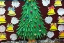 Christmas tree crafts for kids / this page has lots of Christmas tree craft and project for kids.