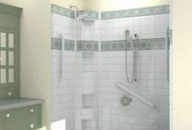 Barrier Free Shower / Barrier-free, low-threshold multi-piece showers with 30 year warranties, fully-blocked walls, reinforced floor pans, and quick EASY installation for trouble-free renovations. See the full collection of over 400 sizes at www.aquassure.com 1-866-404-8827.