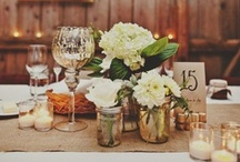 WED. RECEPTION. / centerpieces. floral ideas. tablescapes and setting.  / by Melissa