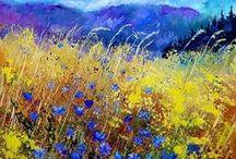 Garden Art & Illustrations / Landscapes, floral fine art and garden inspired illustrations