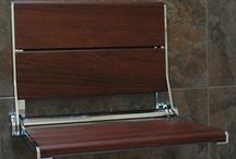 Bathroom Accessories: Seats / Seats for Showers, Accessible Barrier-Free Showers, and Bathtubs.