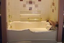 Bathtubs / Bathtubs for easy renovation with fully-blocked composite wall surrounds and transfer seats. 30-year warranties! www.aquassure.com