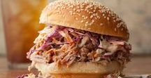 BBQ Sandwiches / Barbequed pulled pork, beef, chicken and venison. Piled high on a bun.