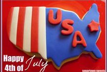 Decorated Cookies ~ 4th of July