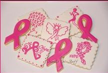 Decorated Cookies ~ Breast Cancer Awareness