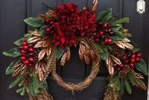 Festive Door Decorations / Seasonal Wreaths and Swags