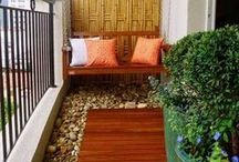 Small Spaces and Balcony Gardens / Ideas for small yards and apartments