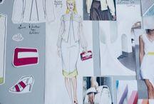 Fashion Sketch & Design & Moodboard / My works & inspirations