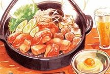 Food drawings and anime food / Illustrations of food. / by Alex Pam.