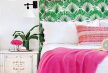Invita a tu interior un poco de verde y rosa