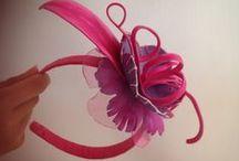 """Cerchietti per capelli """"Le petalussuose"""" - totalmente fatti a mano / Handmade La Valigia Apuà http://lavaligiaapua.blogspot.com"""