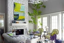 Decorating Ideas / Inspiring ideas anyone can do in their home, its all about colour, scale and theme along with some repetition.