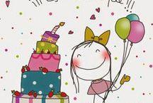 ¡¡¡ Es mi cumple!!! * Happy birthday / Feliz cumpleaños, a todos mis seres queridos, ¡¡y tambien para ustedes!!!.