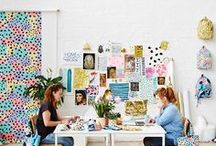 Sewing room spaces and craft studios / Spend your days dreaming of the perfect sewing space? Want to organise your craft supplies? Check out our creative collection of sewing rooms and workspace studios with plenty of storage ideas. Get tips and tutorials on folding fabric, storing haberdashery and organising dressmaking patterns. Plus DIY tutorials and budget ideas for small spaces, outdoor art sheds and designing creative spaces using IKEA furniture and storage products.