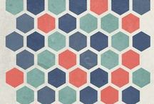 Geometrics / Bold geometric patterns and prints. Chevrons, stripes, diamonds, triangles, hexagons.