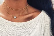 Layered necklaces / Delicate layer necklaces. Love gathering up a few silver or gold necklaces