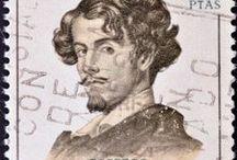 Sellos  *  Escritores y Poetas* Stamps Literary ,2 ,