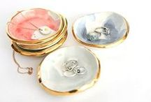 Jewelry storage / jewelry organizer, ring holder, ring dishes, display