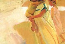 Joaquín   Sorolla  / art / Joaquin Sorolla y Bastida, nace en Valencia  1863 un 27 de febrero,  fue un pintor Español  vinculado al Impresionismo, de fama mundial, cuyas obras de escenas naturales son las más importantes de la pintura española.