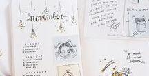 Bullet Journal / Journal, Planner, and doodling inspiration