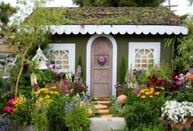 """Cute & Cozy Cottages / all kinds of """"little dwellings"""" that bring a smile - even a few garden sheds and tree houses!  / by Katie Clemens"""