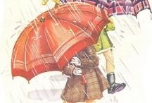 Umbrellas & Rain Drops