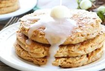 Breakfast & Brunch Delights / Pancakes, French Toast, and Bacon - Oh my! :) Yummy breakfast/brunch recipes