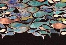 """""""The Sparkling Fishes: Giulietta & Hans"""" Collection / My fishes! Jewels I created between Girona and Formentera."""