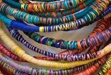 Textile jewellery/textile body decoration