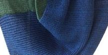 Cool tones... wearing and mixing blues, greens, purples... / Inspiration for wearing #knitwear, #accessories, #garments and #apparel in cool tones, greens, blues, purples