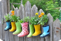Boots -  Upcycle Reuse Recycle Repurpose DIY / by Tickled Pink Memorabilia Mall