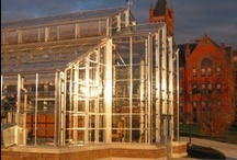 Glass Greenhouse / Annealed, tempered or safety laminated glass and thin-line high strength aluminum alloy glazing bars allow maximum penetration of natural sunlight.  / by Rough Brothers Inc