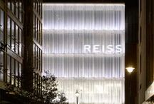 Reiss- Barett Street / This project involved the construction of a flagship seven-storey building in Central London (adjacent to Selfridges) for Reiss Retail Ltd. The building consists of a concrete flat slab frame with exposed soffits and circular columns