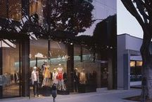 Reiss- La / The facade work involved the design of an external facade screen for the new Reiss store in Los Angeles. The screen consisted of toughened laminated glass with a screen printed dot matrix to restrict the solar gain into the shop front and create a semi-intimate space. The glass was supported on a steel frame setback to create a flush external finish.