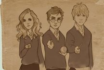 Fan art - Harry Potter / Harry Potter, my childhood's hero. #harry #ron #hermione #harrypotter #hp