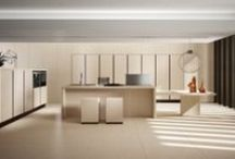 Etherna - Design Collection / Boasting 22 mm. thick doors covered in ceramic gress, Etherna is exceptionally resistant to stains and scratches thanks to the quality of the material used. Designed to be handless, it is available in unique finishes which remind natural stone. #ArritalCucine #Kculture #modern