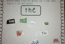 Sight words / Ideas for learning sight words - for kindergarten and first grade