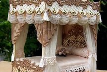 Doll house and vintage love / Vintage doll houses with vintage style