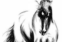 Horses in Art <3