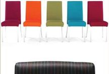 Kilo / The Kilo chair is a contemporary dining chair featuring a fully upholstered seat and back, and timeless looks. Kilo features an aluminium frame and stacks 4 high.   A wide variety of finishes is offered and fabrics can be selected from the Burgess collection or specified by the customer.