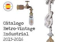 Catálogo Lámparas Retro-Vintage Industrial #Steampunk / Catálogo de lámparas realizadas a mano de estilo retro-vintage Industrial (Steampunk) y rústico, así como lámparas creadas con ramas de árbol recogidas en la costa mediterránea.