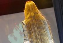 very beautiful and long hair