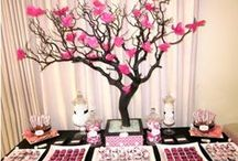 BLACK, WHITE AND PINK THEME
