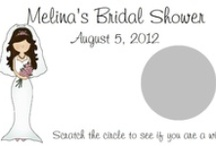 Bridal~Wedding Shower / Our unique, personalized scratch off game is sure to be a hit at your next party! Each set of bridal shower scratch off games comes with 10 cards and measure approximately 3.5x2. They are sold in sets of 10 so be sure to purchase multiple packs for larger parties.