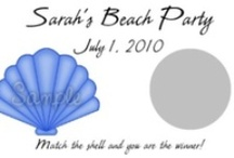 Summer Fun / Fun, beach and summer personalized party scratch off game cards