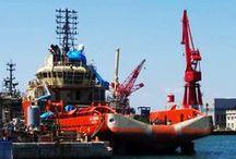 Sormec cargo telescopic crane M40/2S / Sormec crane onboard Caspian Reliance also known as A.H. Floriana