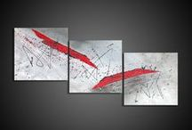 Art Abstract Painting / Our painting, hand made with acrylic. Annie Roi and Angélique Louail, French fine art artists.