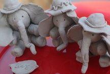 Elephant / Clay elephant